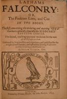 Title page of 'The Faulcons Lure, and Cure' - Second Edition.