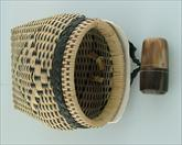 Front view of Japanese hawk food basket