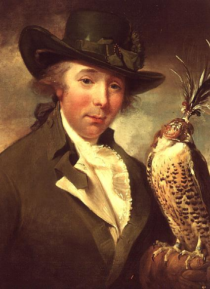 Portrait of a Man with Falcon