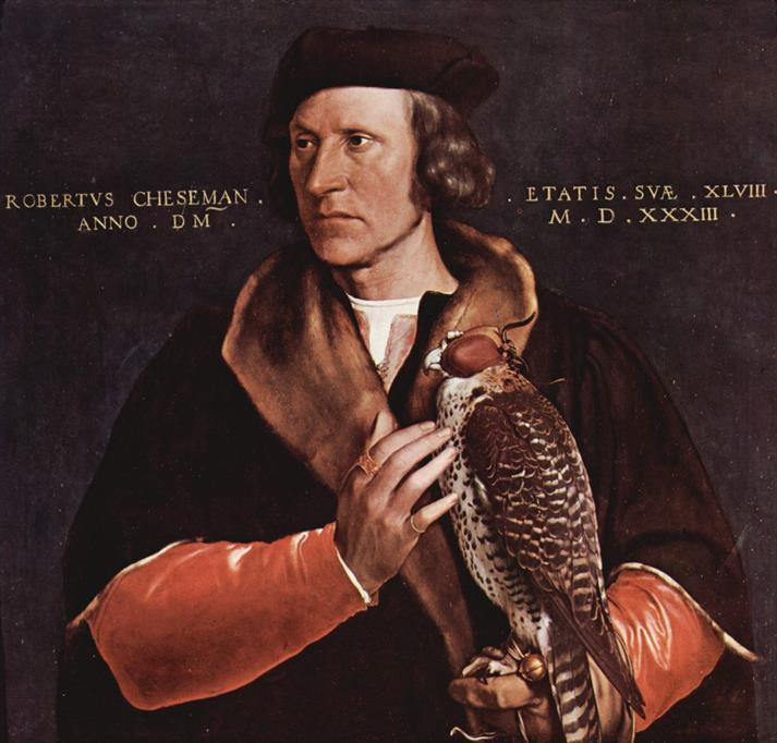 Robert Cheseman by Hans Holbein the Younger in 1533