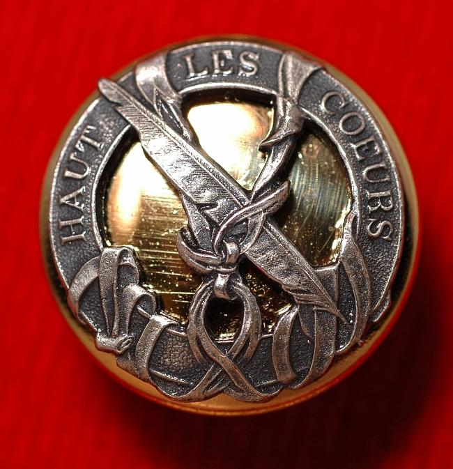 Falconry Button from collection of Veronique Blontrock 027