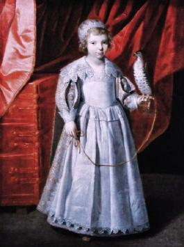 Portrait of Anna Maria de Chevreuse her father was the chief falconer of France M