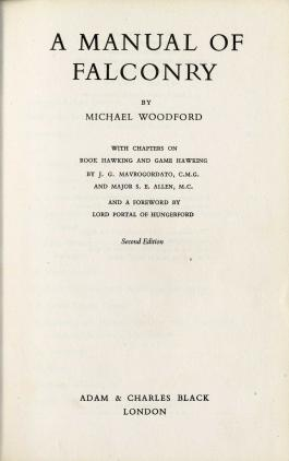 A Manual of Falconry by M.H.Woodford