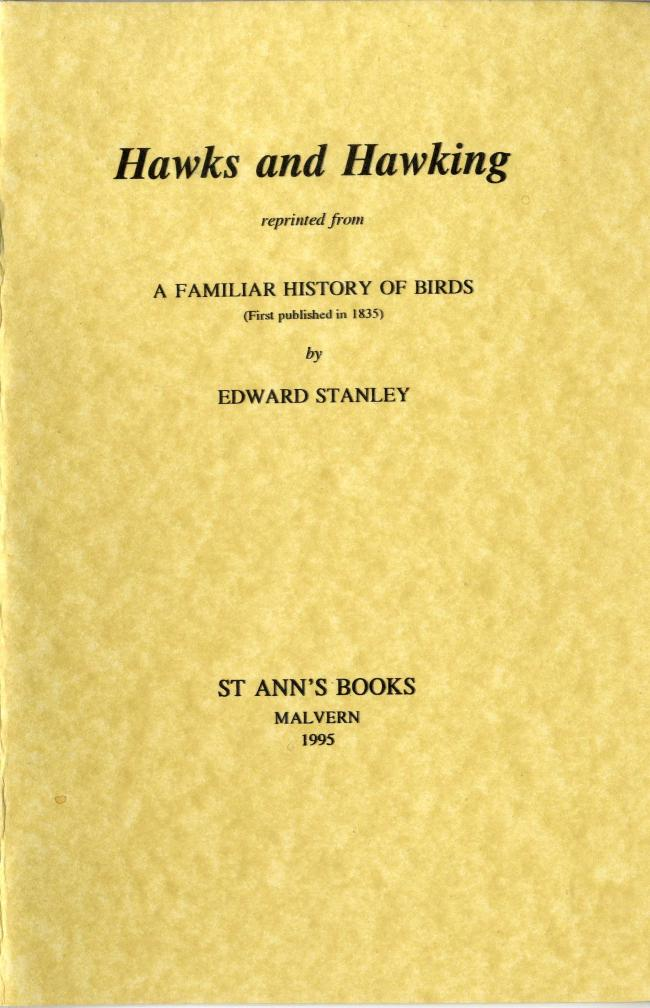 Hawks and Hawking By Edward Stanley FC