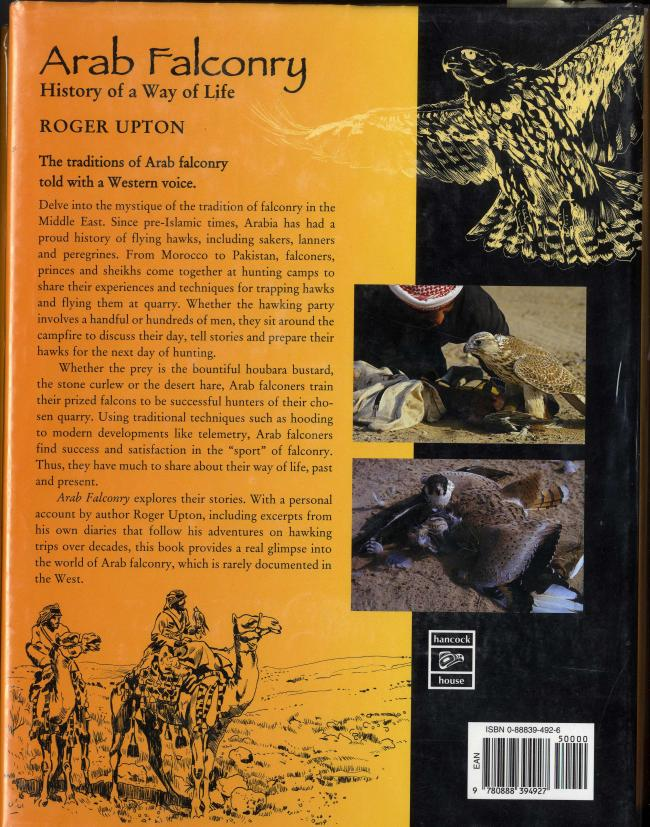 Arab Falconry History of a Way of Life by Roger Upton  BC