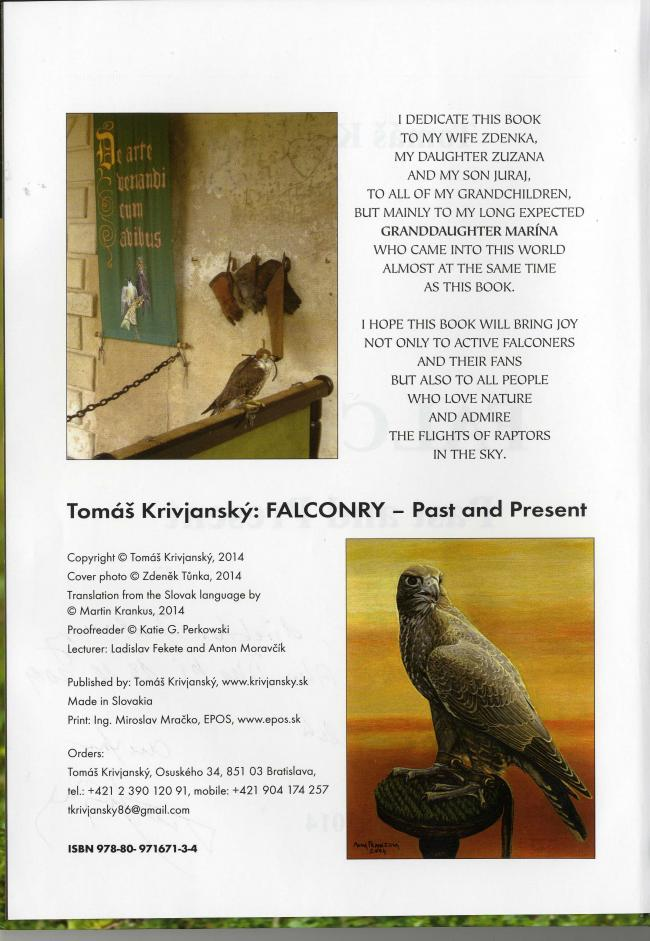 Falconry Past and Present by Tomash Krivjansky