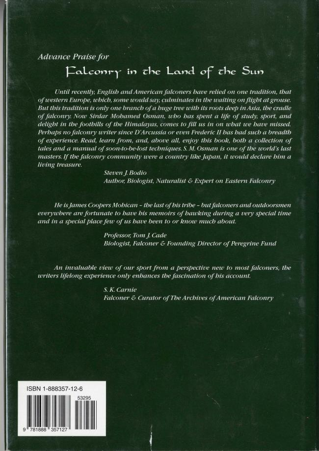 Falconry in the Land of the Sun by Sirdar Mohammed Osman BC