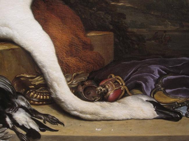 Jan Weenix - The dead swan and deer. 2,5 x 3 meter.