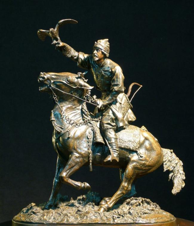 EVGENY LANCERAY RUSSIAN BRONZE FALCONER 1