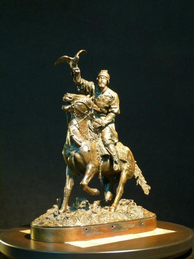 EVGENY LANCERAY RUSSIAN BRONZE FALCONER 2
