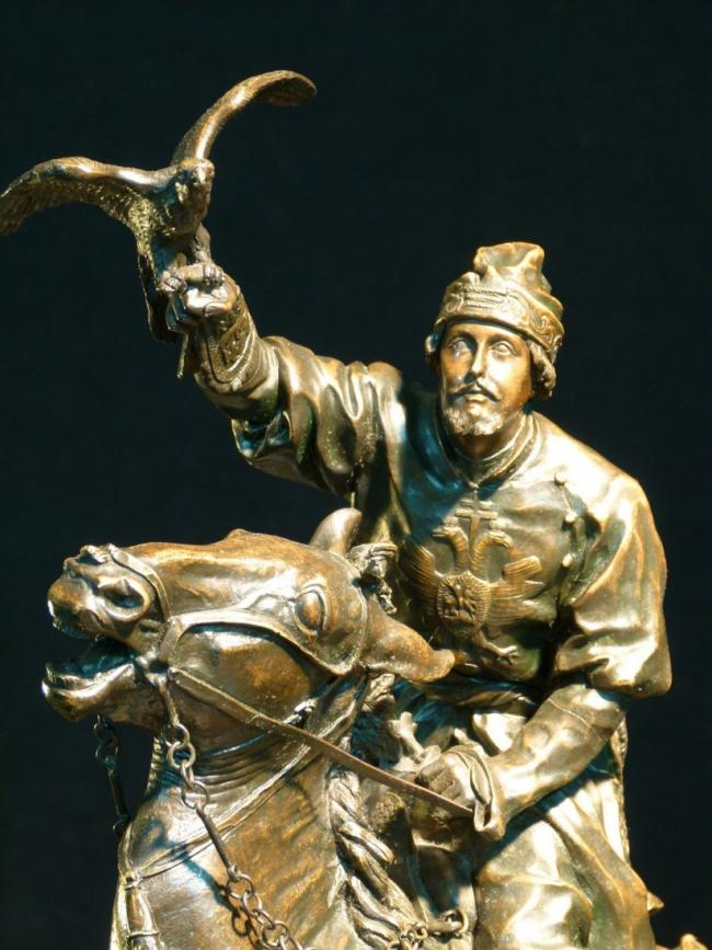 EVGENY LANCERAY RUSSIAN BRONZE FALCONER 3