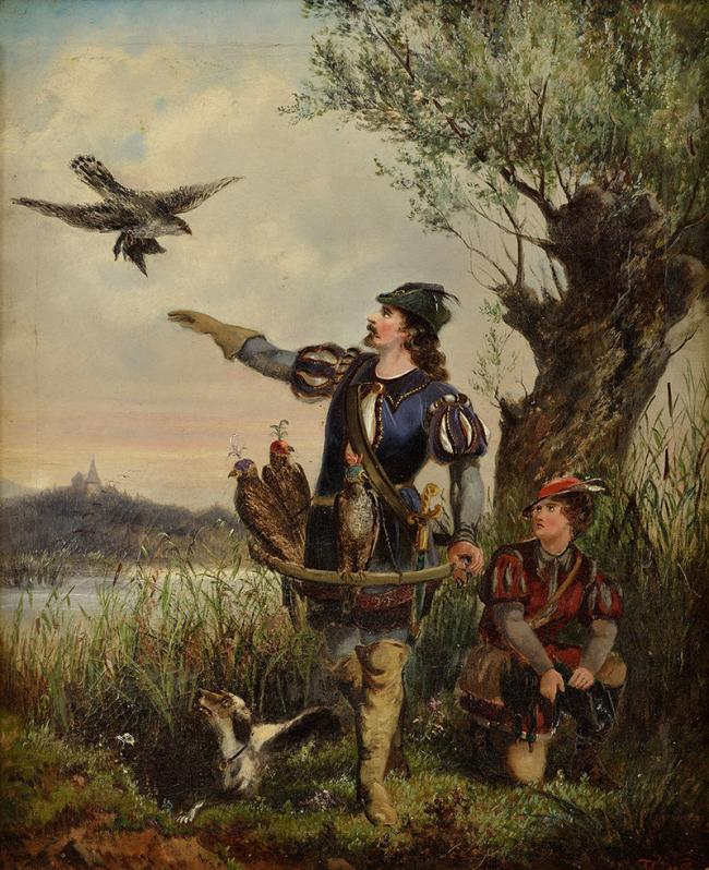 Sokoliar/Falconer by  TOMA MATTIAS RUDOLF (1792-1869)