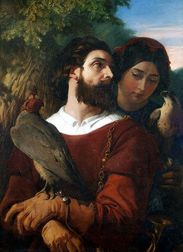 The Falconer by Daniel Maclise (1806-1870)