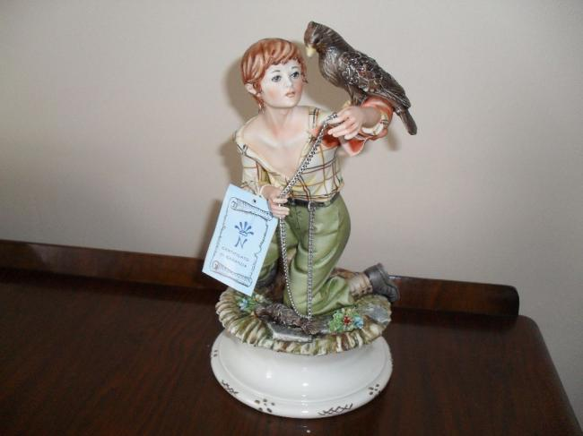 Capodimonte Porcelain Figure 'The Young Falconer'