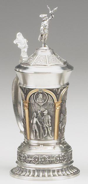 Falconer Pewter Beer Stein