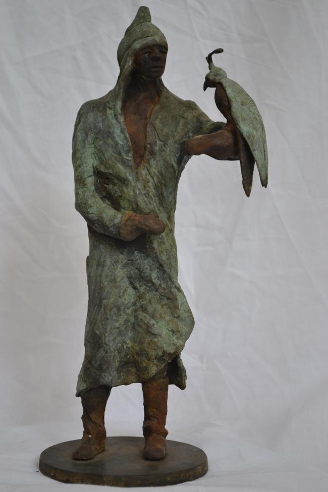 Falconer by Irish sculptor Catherine Greene