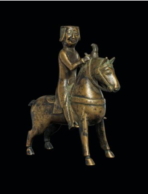 Falconer on horseback. NORTH GERMAN, SECOND HALF OF THE 13TH CENTURY