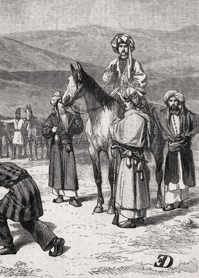 Iran Persian Hunt with Falconry, Hookah, 1870s Antique Engraving Print & Article 2