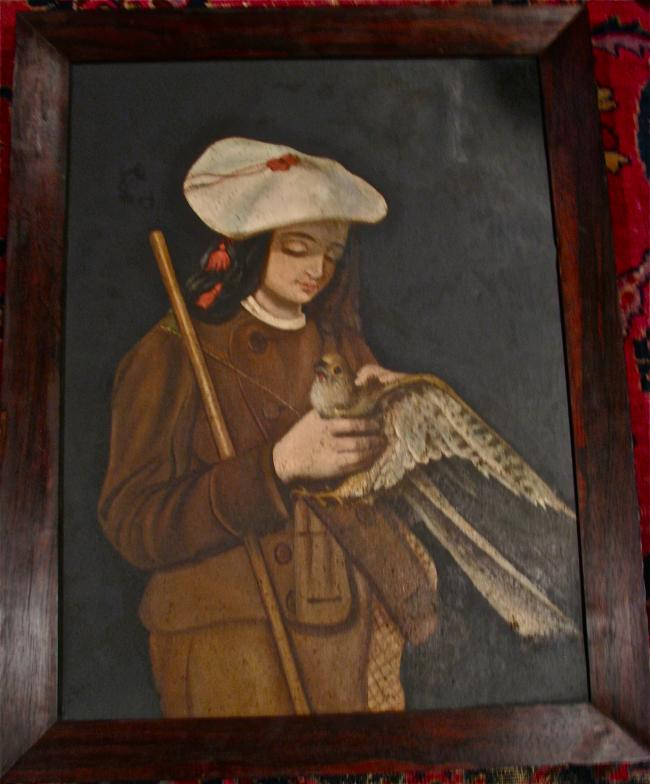 American Painting of a Young Falconer C. 1845 – 1860
