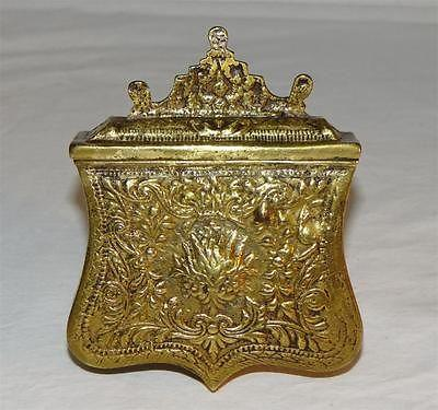 Antique FALCONRY FALCONERS Brass ORNATE BELT MOUNTED TIDBITTER FOOD/MEAT BOX