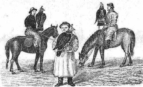Hunting on wolves in Astrakhan Region in 1856