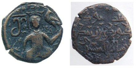 The coin is visible Georgian King George 3-rd