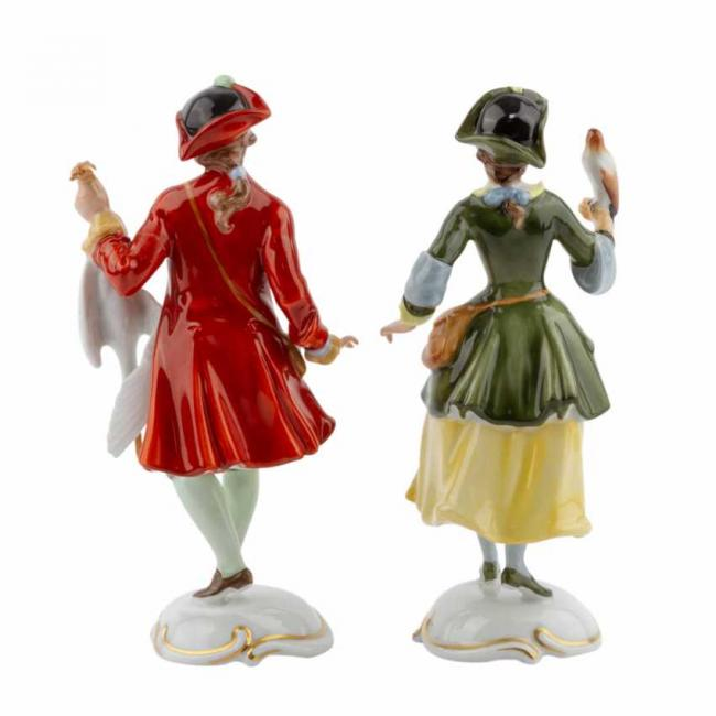Lot 605. Rosenthal  Group 2 figurines of Lady Falconer and Falconer 20th century 4