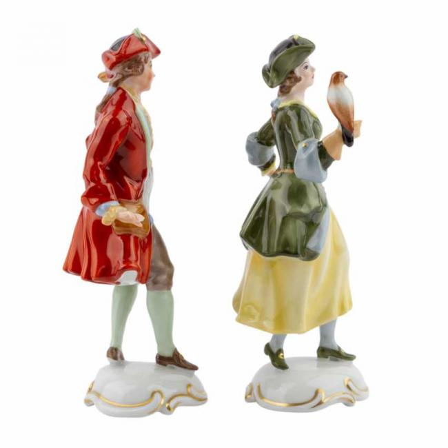 Lot 605. Rosenthal  Group 2 figurines of Lady Falconer and Falconer 20th century 5