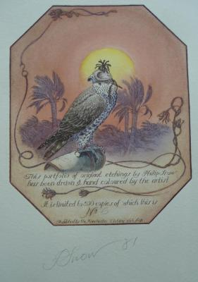 Snow (Philip) The Falcon, a portfolio of original etchings, hand coloured by the artist, nd. [1981],