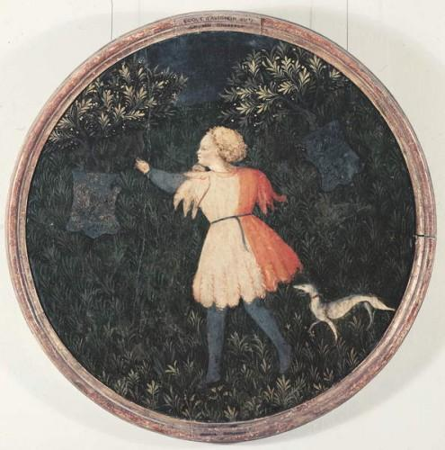 Young falconer, Florentine School by Master of the Judgement of Paris
