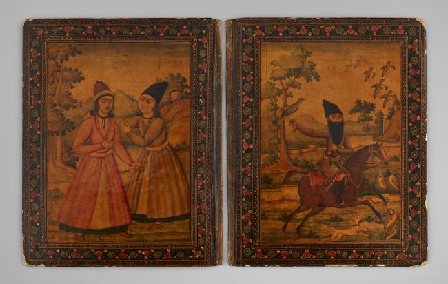 Pair of lacquer book covers, Iran, 19th century from Aga Khan Museum